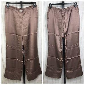 Silk Surroundings Mauve Silk Pants Size MP NEW